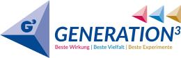 Logo: Generation hoch 3, Beste Wirkung | Beste Vielfalt | Beste experimente